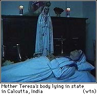 Mother Teresa on her deathbed